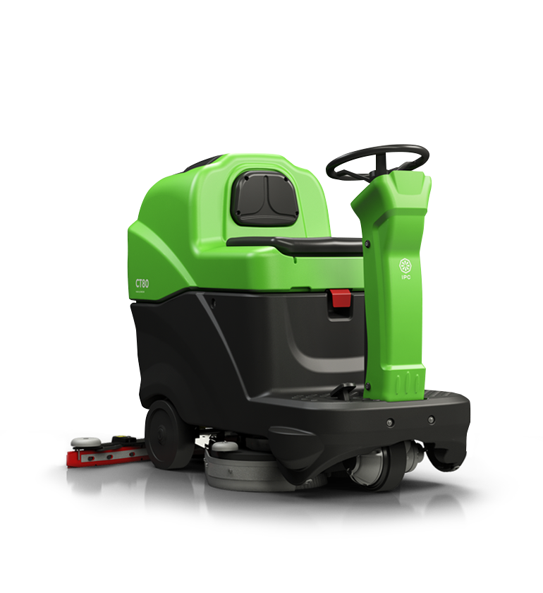 A jewel engineered to clean large surfaces, in a small ride-on design.
