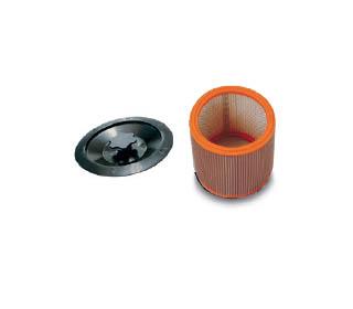 Kit cartuccia hepa con disco blocca-filtro e guarnizione