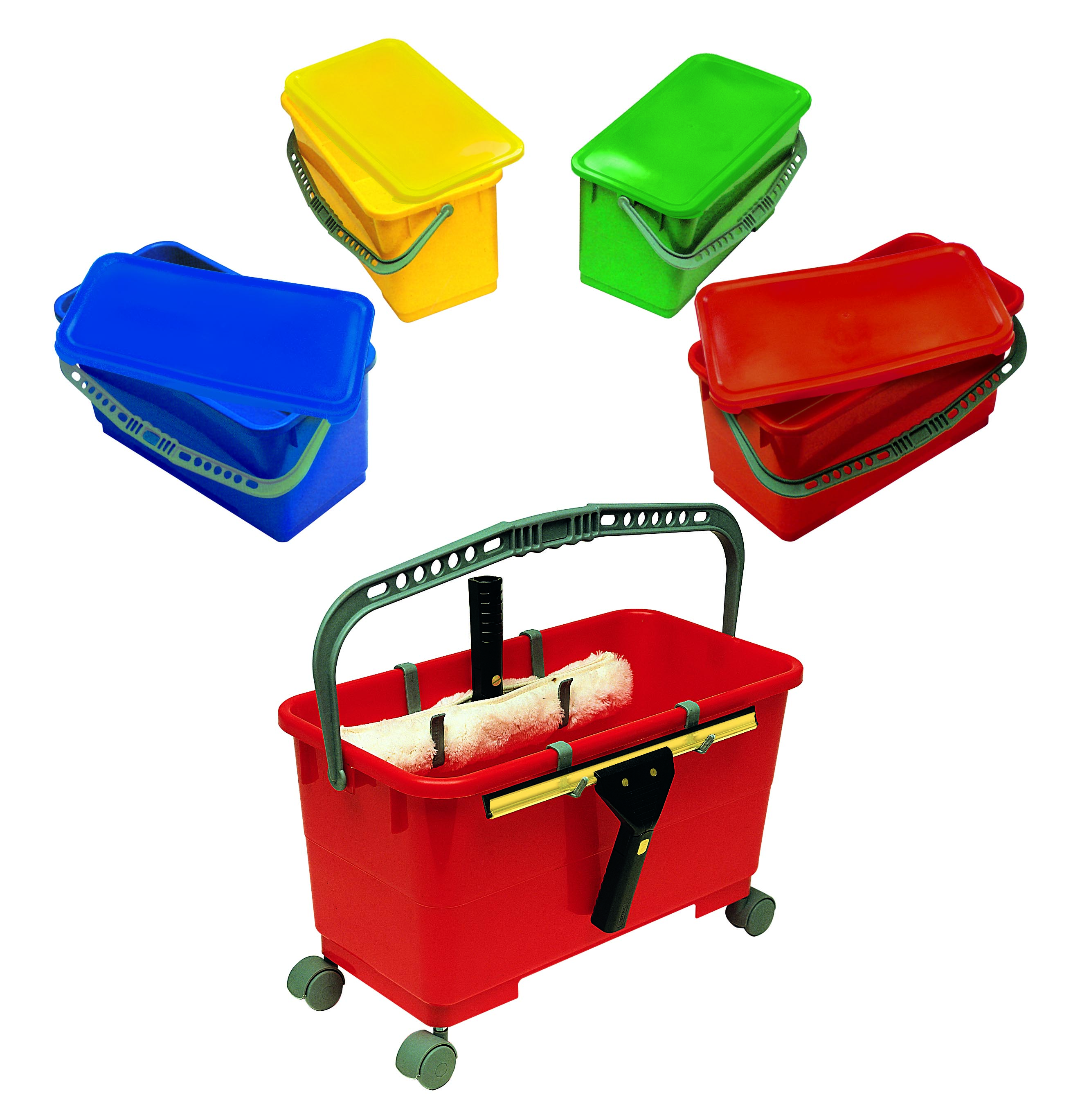 Microfiber Mopping System Pre-Treat Buckets